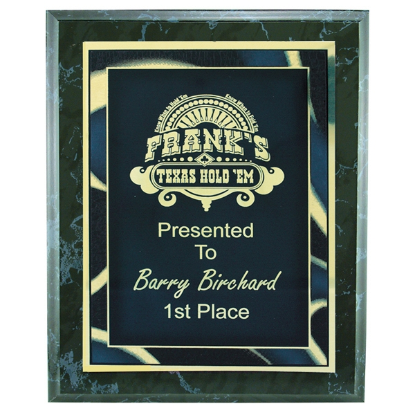 Black Marble Finish Plaque