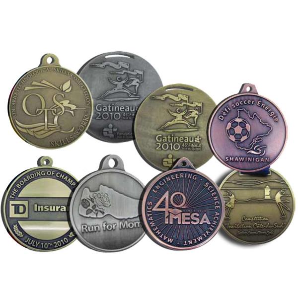 Diestruck antiqued medal