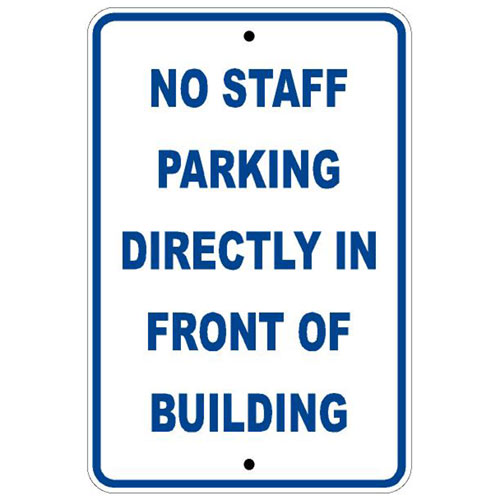 Reflective Parking Sign